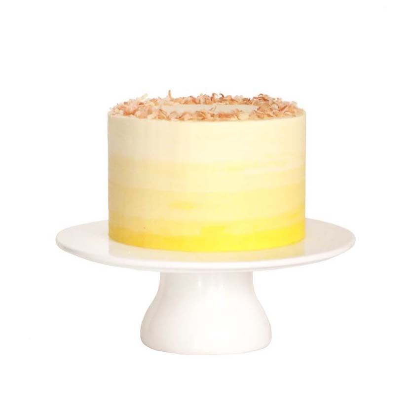 Coconut Cake with Passion Fruit Buttercream