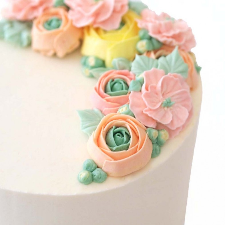 Birthday Half-Wreath Cake