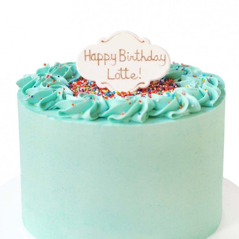 Personalized Birthday Cake Plaque