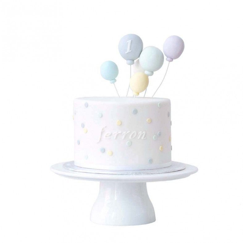 Fondant Balloon Birthday Cake
