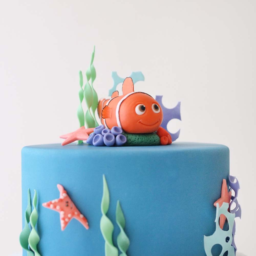 Enjoyable Finding Nemo Birthday Cake Sugarlips Cakes Webshop Personalised Birthday Cards Cominlily Jamesorg