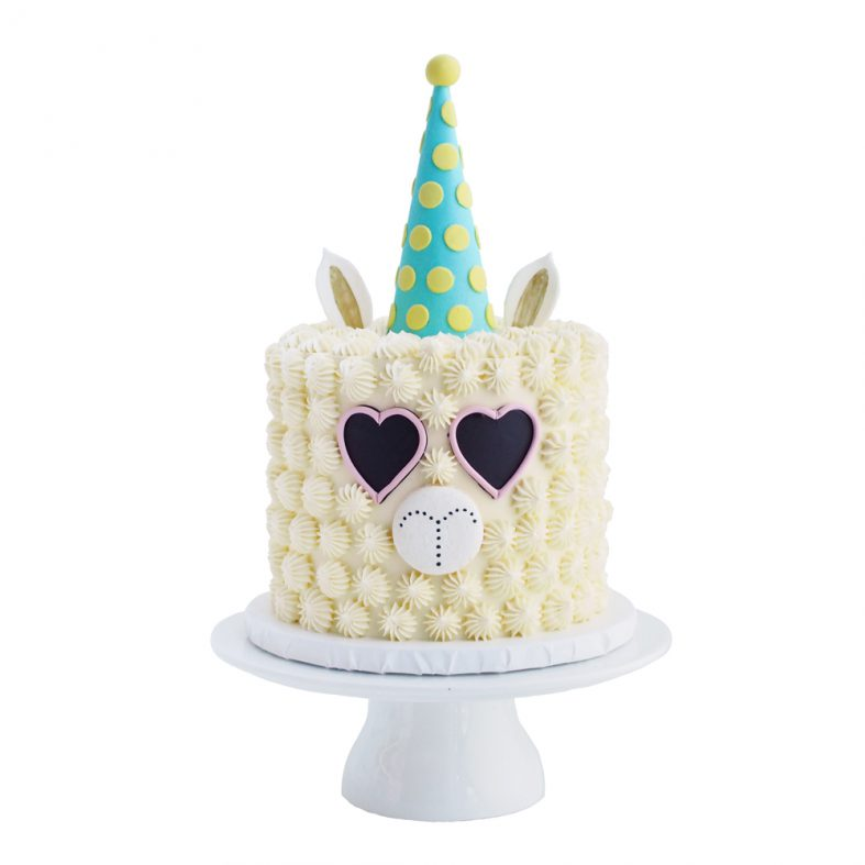 Llama Birthday Party Cake