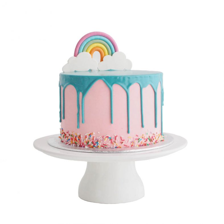 Fondant Rainbow Birthday Cake