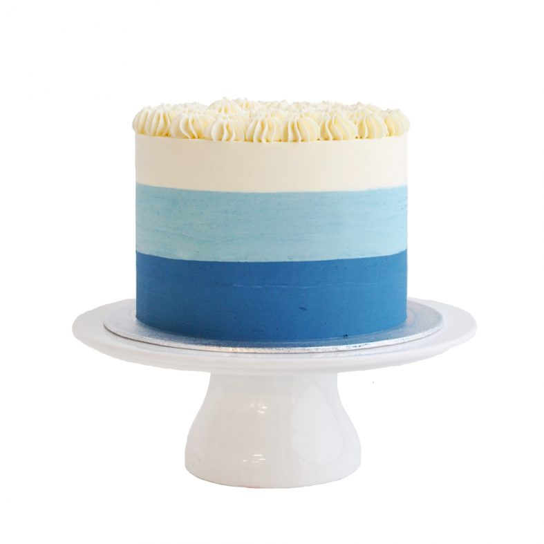 Ombré Blue Birthday Cake
